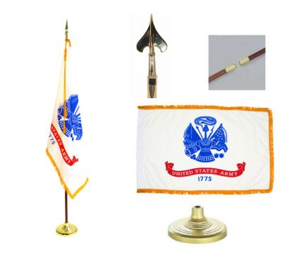 Army Indoor/Parade Flag Set 4ft x 6ft  guidon
