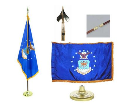 Air Force Indoor/Parade Flag Set 4ft x 6ft  guidon