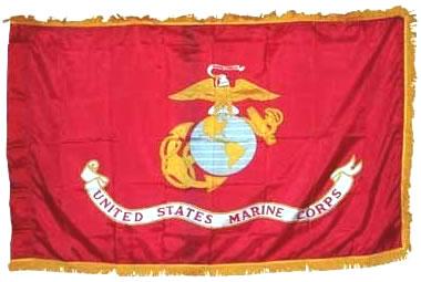 Marines Organizational Flag 3ft X 5ft size  guidon