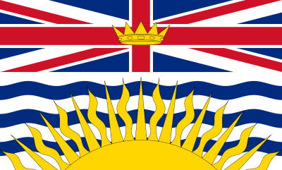 British Columbia Flag 4ft x 6ft  guidon