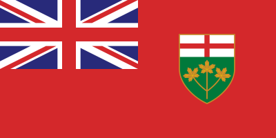 Ontario Flag 3ft x 5ft  guidon
