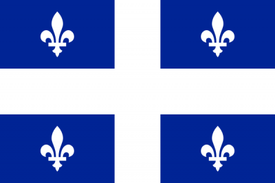 Quebec Flag 3ft x 5ft  guidon