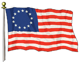 13 Star 3ft x 5ft Betsy Ross US Flag  guidon