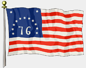 Bennington Flag, 3ft X 5ft US Flag  guidon