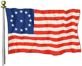 Cowpens Flag, 3ft X 5ft US Flag  guidon