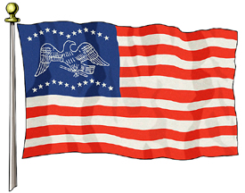 General Fremont Flag, 3ft X 5ft US Flag  guidon