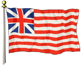 Grand Union Flag, 3ft X 5ft US Flag  guidon