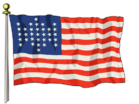 Union Civil War Flag, 3ft X 5ft US Flag  guidon
