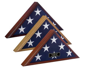Flag Display Case Oak  guidon