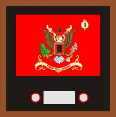 Regimental & Battalion Colors Framed Sets Large 18