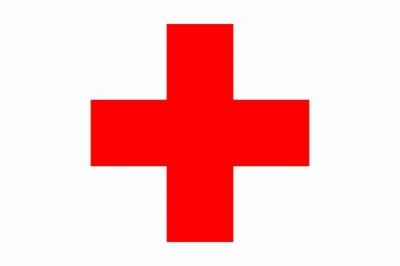 Red Cross 5 ft X 9.5 ft Outdoor Flag  guidon
