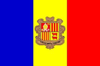 Andorra Flag 3' X 5' Indoor/Parade Flag Set  guidon