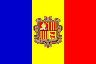 Andorra Flag 4' X 6' Indoor/Parade Flag Set  guidon
