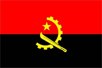 Angola Flag 3' X 5' Indoor/Parade Flag Set  guidon