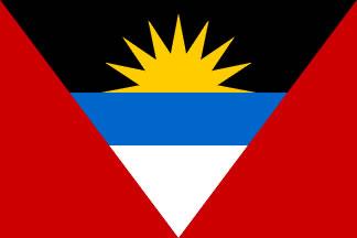 Antigua and Barbuda Flag 3' X 5' Indoor/Parade Flag Set  guidon