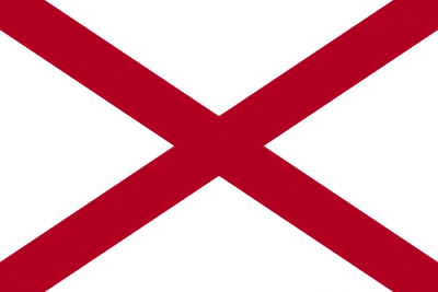 Alabama State Flag 3'x5'  guidon