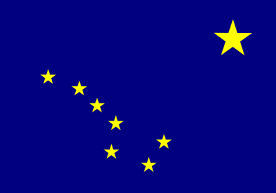 Alaska State Flag 4'x6'  guidon