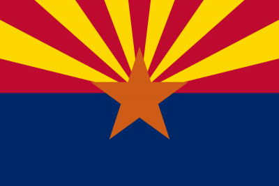 Arizona State Flag 4'x6'  guidon