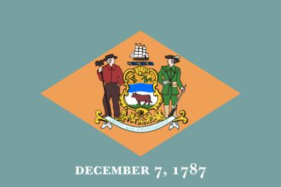 Delaware State Flag 3'x5'  guidon