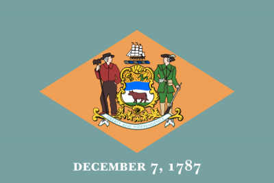 Delaware State Flag 4'x6'  guidon